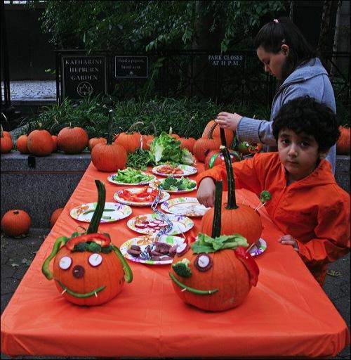 pumpkins, vegetables, NYC