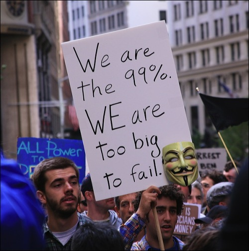 occupy wall st. new york city, 99%