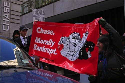 Chase Manhattan bank, occupy wall st.