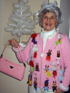 pink ugly sweater  BRSG blo, Bridgette Raes