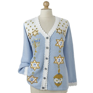 Hanukkah sweater, Bridgette Raes, BRSG