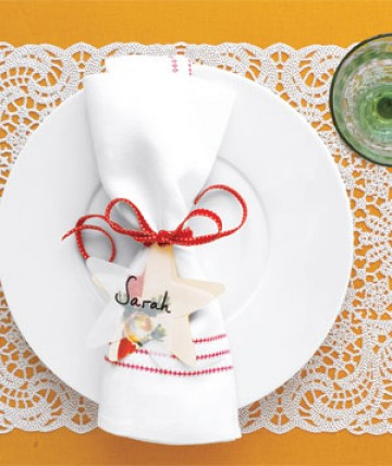 Christmas napkin, place cards,