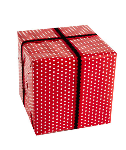 polka dots, Christmas wrapping paper