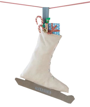 ice skate, personalized stocking
