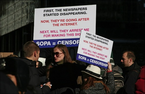 SOPA PIPA, demonstration in New York City