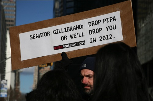 sopa, pipa, demonstration in new york city