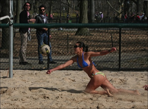 Central Park, New York city, volley ball