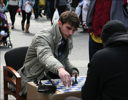 Union Square, chess game, gambit