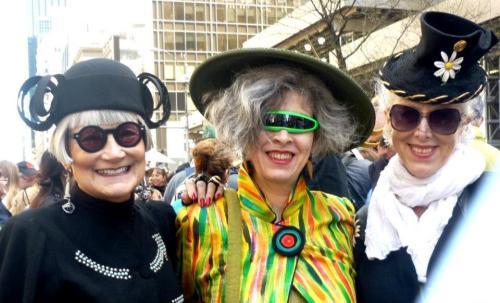 Easter parade, easter hat, Helen Uffner, sunglasses