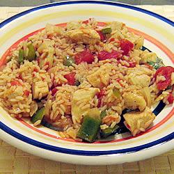 Cinco de Mayo, Kentucky Derby, saffron, Viga rice, chicken dinner, one-pot meal, arroz con pollo, black beans,
