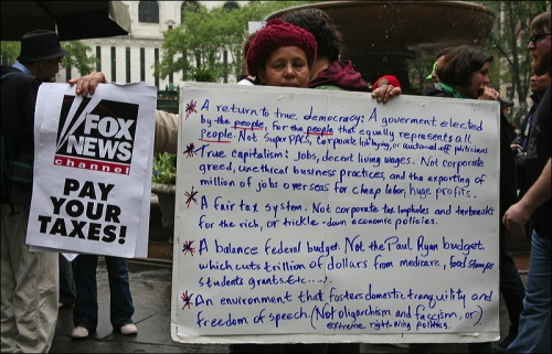 taxation, ows, occupy wall street, newe york city