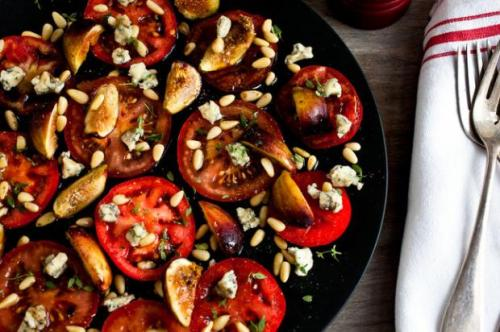 New York times, tomatoes, Jersey tomatoes, figs, blue cheese