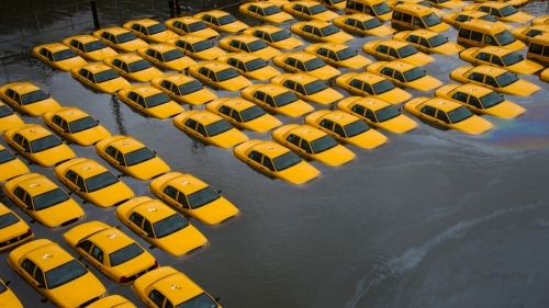 Hoboken, NJ, fleet of taxis, Hurricane Sandy
