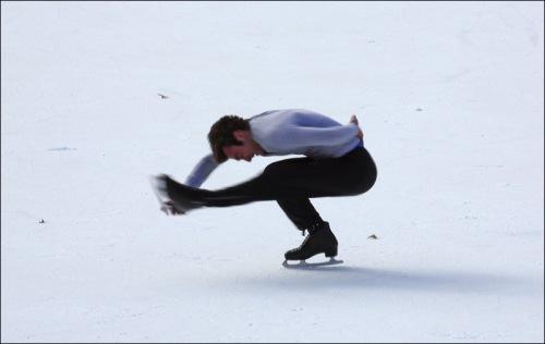 ice skater, Bryant Park, Central Park