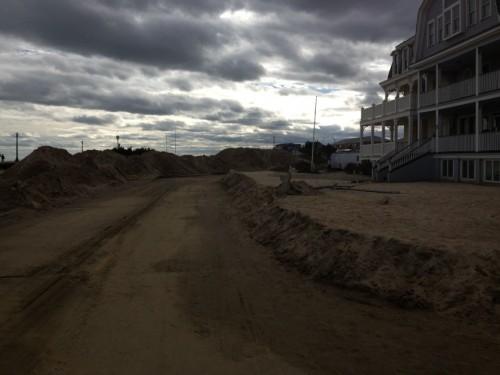 sand piles, Ocean Grove, Ocean Ave