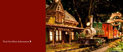 The Holiday Train Exhibit Botanical Gardens