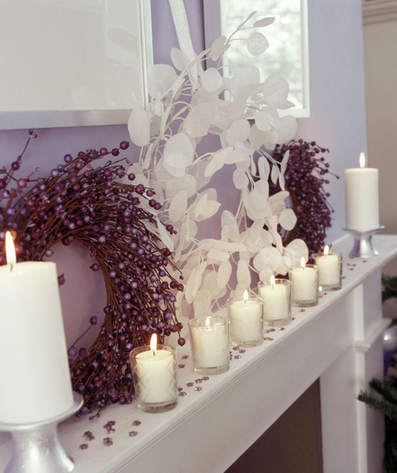 A Very Berry Christmas Wreath and Votives