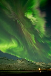 Solar storm increased aural activity in Iceland