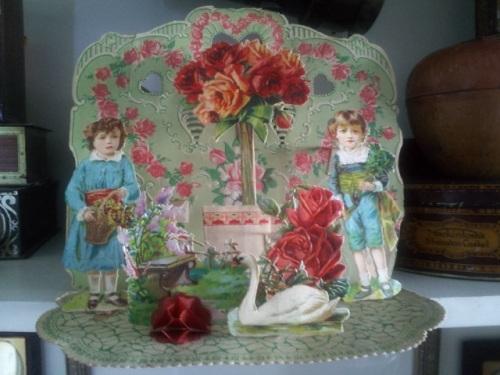 Detailed 3-D Vintage Valentine.