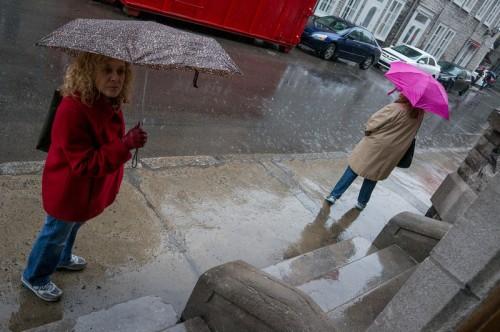 Les parapluies de Vieux Québec