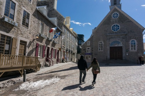 This is the Place Royale, the original centre of Vieux  Quebec