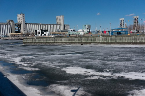 The Port of Quebec is FROZEN still!!!