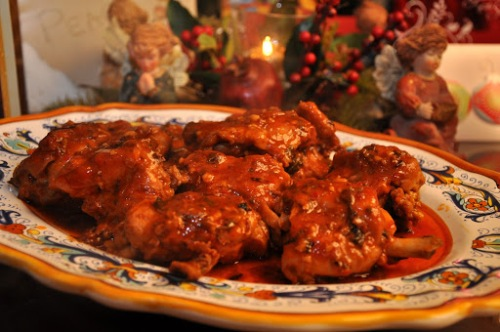 Chicken Hunter-Style  a/k/a Chicken Cacciatore