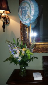 Yellow Roses, White Lilly and a Balloon