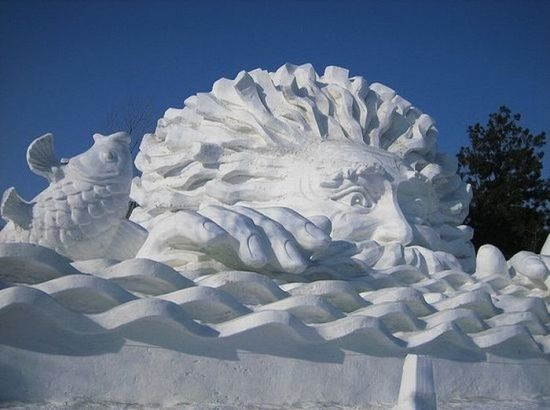 Snow and Ice Sculptures - The Last of Breckinridge CO Festival (6/6)