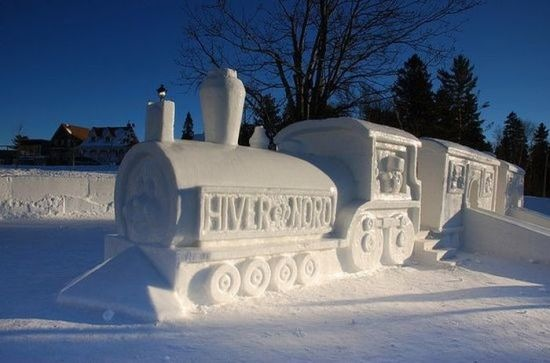 Snow and Ice Sculpture - Skill, Scope and Size - Fab Foto Friday (3/6)