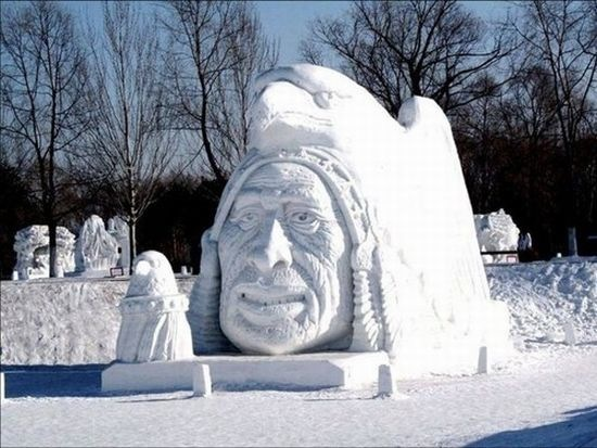 Snow and Ice Sculptures - The Last of Breckinridge CO Festival (3/6)
