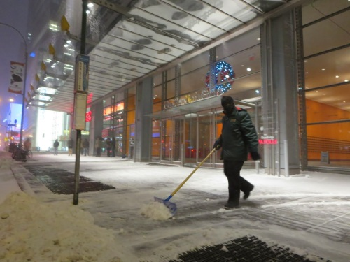 Keeping the sidewalks clear!