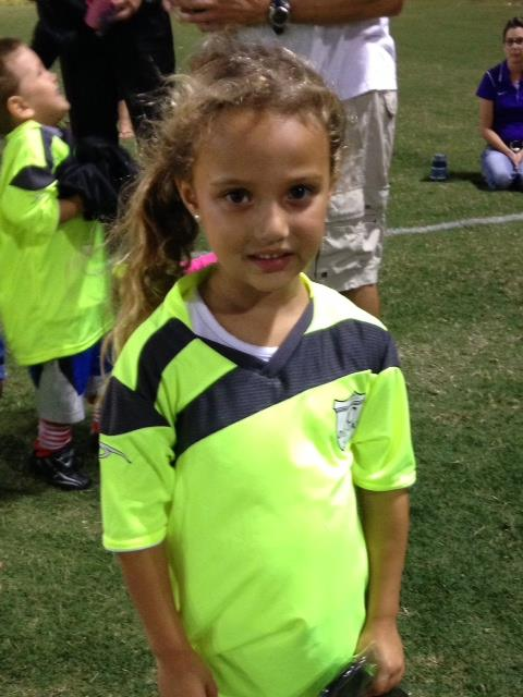 Soccer Player Just Like Mommy