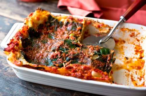 Lasagna with Collard Greens