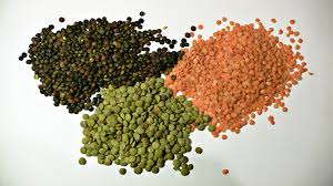 Red, Green and Black Lentils