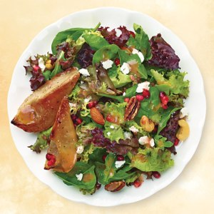 Roasted Pear and Pomengranate Salad