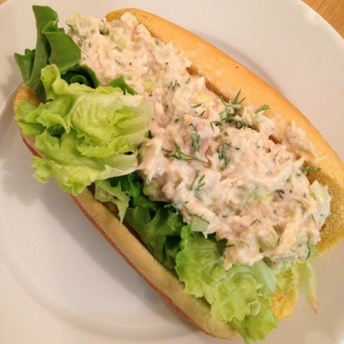 Tuna Served Lobster Roll Style