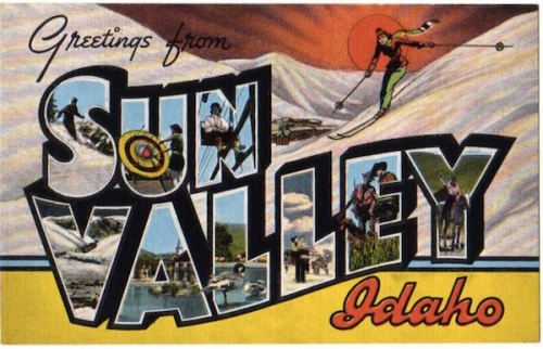 Early On Sun Valley Was Promoted As A Ski Destination