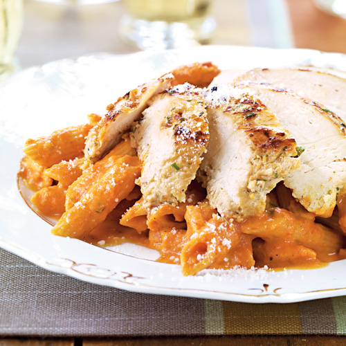 Pasta with Vodka Sauce & Chicken