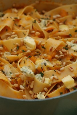 Nigella Lawson's Pappardelle with Butternut Squash and Blue Cheese