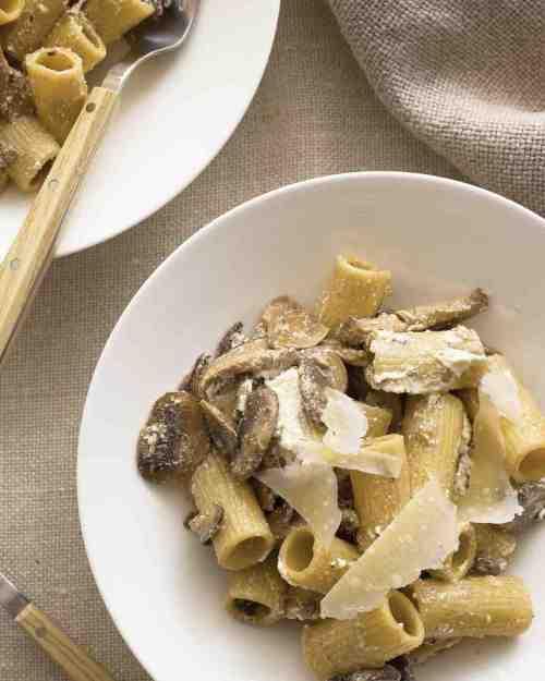 Mushroom Pasta with Ricotta